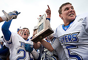 Dixie Flyers celebrate their victory in the Utah State High School 3A Football championship game between Spanish Fork and Dixie Friday, Nov. 16, 2012.