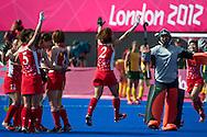 Olympics 2012, hockey, japanese celebrate for finishing 9th