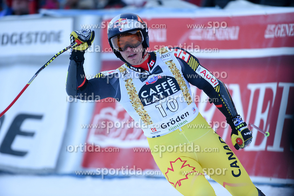 16.12.2016, Saslong, St. Christina, ITA, FIS Weltcup Ski Alpin, Groeden, Abfahrt, Herren, im Bild Erik Guay (CAN) // Eric Guay of Canada reacts after his run of men's downhill of FIS Ski Alpine World Cup at the Saslong in St. Christina, Italy on 2016/12/16. EXPA Pictures © 2016, PhotoCredit: EXPA/ Erich Spiess