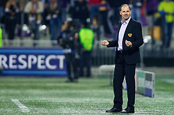 Ante Simundza, head coach of Maribor during football match between NK Maribor and Sporting Lisbon (POR) in Group G of Group Stage of UEFA Champions League 2014/15, on September 17, 2014 in Stadium Ljudski vrt, Maribor, Slovenia. Photo by Vid Ponikvar  / Sportida.com