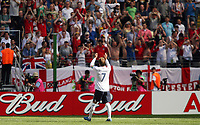 Photo: Chris Ratcliffe.<br /> England v Paraguay. Group B, FIFA World Cup 2006. 10/06/2006.<br /> David Beckham of England thanks  the fans at the end.
