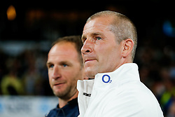 England Head Coach Stuart Lancaster and skills coach Mike Catt after England win the match - Mandatory byline: Rogan Thomson/JMP - 07966 386802 - 15/08/2015 - RUGBY UNION - Twickenham Stadium - London, England - England v France - QBE Internationals 2015.
