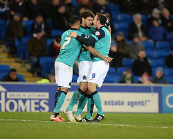 Blackburn Rovers's Rudy Gestede celebrates his goal to make it 1-1  - Photo mandatory by-line: Alex James/JMP - Mobile: 07966 386802 - 17/02/2015 - SPORT - Football - Cardiff - Cardiff City Stadium - Cardiff City v Blackburn Rovers - Sky Bet Championship
