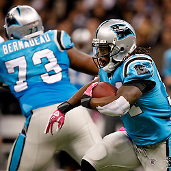 October 3, 2010; New Orleans, LA, USA; Carolina Panthers running back DeAngelo Williams (34) runs against the New Orleans Saints during the first quarter at the Louisiana Superdome. Mandatory Credit: Derick E. Hingle