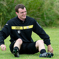 St Johnstone Pre-Season Tour of Ireland....07.07.11<br /> David Robertson pictured during training<br /> see story by Gordon Bannerman Tel: 07729 865788<br /> Picture by Graeme Hart.<br /> Copyright Perthshire Picture Agency<br /> Tel: 01738 623350  Mobile: 07990 594431