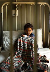 Sughra Bibi, 6, is treated for splenomegaly inside the Children's Hospital at the Pakistan Institute of Medical Sciences, P.I.M.S., in Islamabad, Pakistan on Sept. 18, 2007.