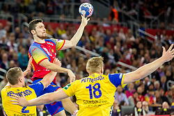 Alex Dujshebaev (ESP) during handball match between National teams of Spain and Sweden in Final match of Men's EHF EURO 2018, on January 28, 2018 in Arena Zagreb, Zagreb, Croatia . Photo by Ziga Zupan / Sportida