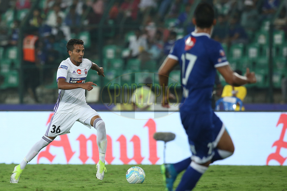 Sahil Panwar of FC Pune City in action during match 46 of the Hero Indian Super League between Chennaiyin FC and FC Pune City held at the Jawaharlal Nehru Stadium, Chennai India on the 13th January 2018<br /> <br /> Photo by: Deepak Malik  / ISL / SPORTZPICS