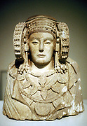 The Lady of Elche. Painted limestone bust of 5th century BC from La Alcuidia de Elche. Carthaginian influence