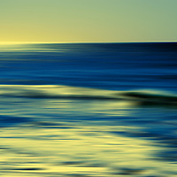 The smooth drawn water from Oceanside in backlit.