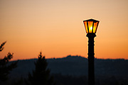 Historic light fixture, Mount Tabor Park, Portland, Oregon, USA.