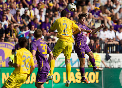 Darko Zec of Domzale vs Etien Velikonja of Maribor  during football match between NK Maribor and NK Domzale of 36th - Last Round of 1st Slovenian football league PrvaLiga, on May 29, 2011 in Stadium Ljudski vrt, Maribor, Slovenia. (Photo By Vid Ponikvar / Sportida.com)