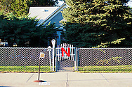 A Husker N decorates this fence in Hershey, Nebraska.