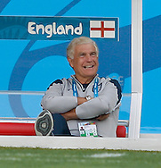FA Director of Football Development Sir Trevor Brooking smiles during the England training session the day before their final Group D match against Costa Rica at Mineirão, Belo Horizonte, Brazil. <br /> Picture by Andrew Tobin/Focus Images Ltd +44 7710 761829<br /> 23/06/2014