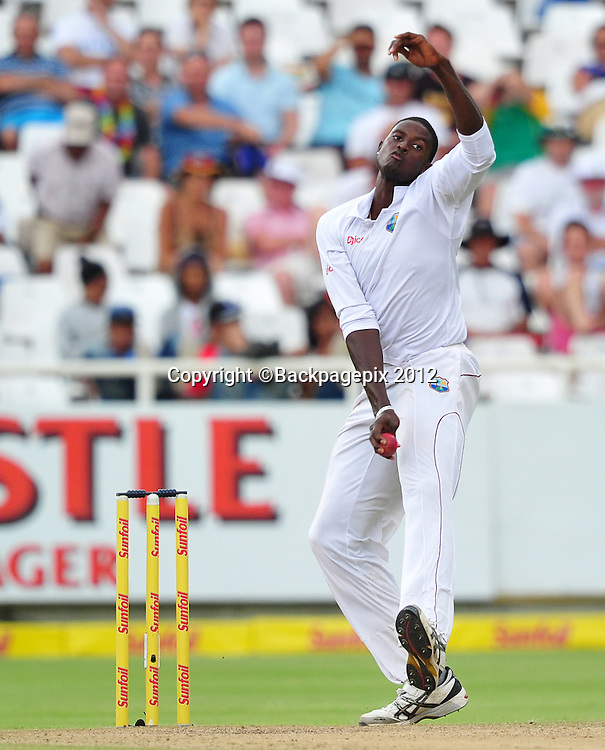 Jason Holder of the West Indies during day 2 of the Sunfoil Test Series 2014/15 game between South Africa and the West Indies at Newlands Stadium, Cape Town on 3 January 2015 ©Ryan Wilkisky/BackpagePix