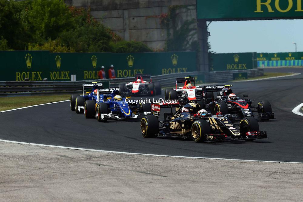 &copy; Photo4 / LaPresse<br /> 26/07/2015 Budapest, Hungary<br /> Sport <br /> Grand Prix Formula One Hungary 2015<br /> In the pic: Pastor Maldonado (VEN) Lotus F1 Team E23
