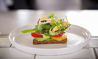Copenhagen, Denmark- JULY 23, 2014: At Almanak, chef Denny Vangsted has created a modern take on the traditional Danish open-face sandwich. CREDIT: Chris Carmichael for The New York Times