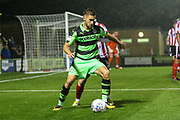 Forest Green Rovers William Randall(19) on the ball during the EFL Sky Bet League 2 match between Forest Green Rovers and Lincoln City at the New Lawn, Forest Green, United Kingdom on 12 September 2017. Photo by Shane Healey.