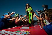 Danica Patrick at Daytona International Speedway. Photographed for USA TODAY Sports, 2013
