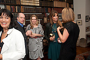 POLLY SAMSON; ALAIN DE BOTTON; SUSIE BOYT; JEMIMA KHAN, Freud Museum dinner, Maresfield Gardens. 16 June 2011. <br /> <br />  , -DO NOT ARCHIVE-© Copyright Photograph by Dafydd Jones. 248 Clapham Rd. London SW9 0PZ. Tel 0207 820 0771. www.dafjones.com.
