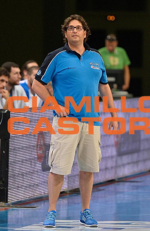 DESCRIZIONE : Atene Akropolis Cup Italia Grecia Italy Greece<br /> GIOCATORE : Andrea Trinchieri<br /> CATEGORIA : allenatore coach<br /> SQUADRA : Nazionale Grecia Maschile Uomini<br /> EVENTO : Atene Akropolis Cup<br /> GARA : Italia Grecia Italy Greece<br /> DATA : 29/08/2013<br /> SPORT : Pallacanestro<br /> AUTORE : Agenzia Ciamillo-Castoria/R.Morgano<br /> Galleria : FIP Nazionali 2013<br /> Fotonotizia : Atene Akropolis Cup Italia Grecia Italy Greece<br /> Predefinita :