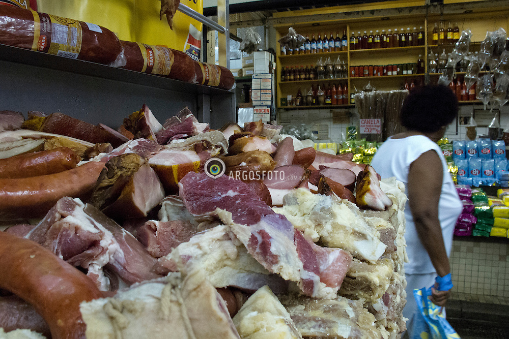 "Carnes usadas no preparo da feijoado, prato tipico do Brasil // Ingridients to make ""feijoada"" a typical food from Brazil. 2011."