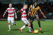 Anthony Grant (Port Vale) is fouled while pushing forward during the Sky Bet League 1 match between Doncaster Rovers and Port Vale at the Keepmoat Stadium, Doncaster, England on 26 January 2016. Photo by Mark P Doherty.