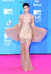 Halsey attending the MTV Europe Music Awards 2018 held at the Bilbao Exhibition Centre, Spain. Photo credit should read: Doug Peters/EMPICS