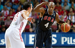 Chauncey Billups of USA during the finals basketball match between National teams of Turkey and USA at 2010 FIBA World Championships on September 12, 2010 at the Sinan Erdem Dome in Istanbul, Turkey.   (Photo By Vid Ponikvar / Sportida.com)