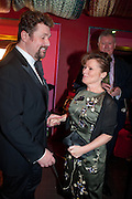 MICHAEL BALL; IMELDA STAUNTON, Party after the press night opening of 'Sweeney Todd: The Demon Barber of Fleet Street' at Adelphi Theatre, London. Floridita. Wardour St. 20 March 2012.
