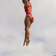 15 October 2015 - The San Diego State Aztecs Women's Swim & Dive Team took on Oregon State and Vanderbilt at the Aztec Aquaplex. 3m Diving