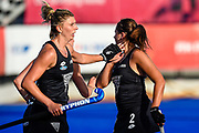 Olivia Shannon of the Black Sticks celebrates Olivia Merry of the Black Sticks goal during the FIH Pro League for Hockey played between China v Black Sticks Women, Nga Puna Wai Hockey Stadium in Christchurch. 17th February 2019. Copyright photo: John Davidson / www.photosport.nz
