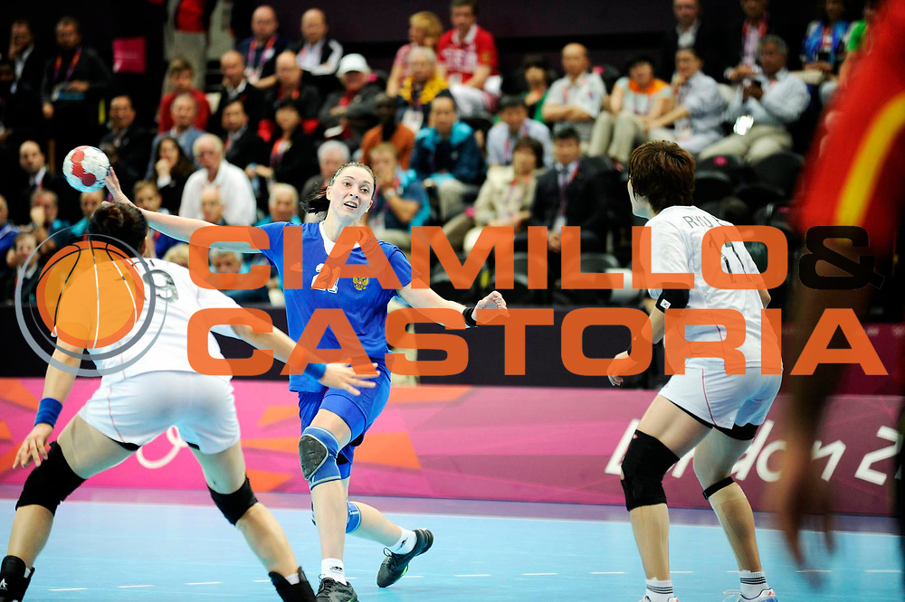 DESCRIZIONE : Handball Jeux Olympiques Londres Quart de Finale<br /> GIOCATORE : Zhilinskayte Victoria RUS <br /> SQUADRA : Russie Femme<br /> EVENTO :  Handball Jeux Olympiques<br /> GARA : Coree Russie<br /> DATA : 07 08 2012<br /> CATEGORIA : handball Jeux Olympiques<br /> SPORT : HANDBALL<br /> AUTORE : JF Molliere <br /> Galleria : France JEUX OLYMPIQUES 2012 Action<br /> Fotonotizia : France Handball Femme Jeux Olympiques Londres Quart de Finale Copper Box<br /> Predefinita :