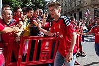 Osasuna's player Miguel Olavide during the celebration for promotion to La Liga BBVA on the streets of Pamplona . 19,06,2016. (ALTERPHOTOS/Rodrigo Jimenez)