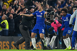January 24, 2019 - London, England, United Kingdom - Chelsea defender Cesar Azpilicueta celebrates winning the semi final during the Carabao Cup match between Chelsea and Tottenham Hotspur at Stamford Bridge, London on Thursday 24th January 2019. (Credit Image: © Mark Fletcher/NurPhoto via ZUMA Press)