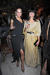 Left to right, ALICE EVA and KATRIN HANNAN-BOBE at a party to celebrate the launch of Atelier-Mayer.com held at 83 Princedale Road, London W11 on 15th January 2009.
