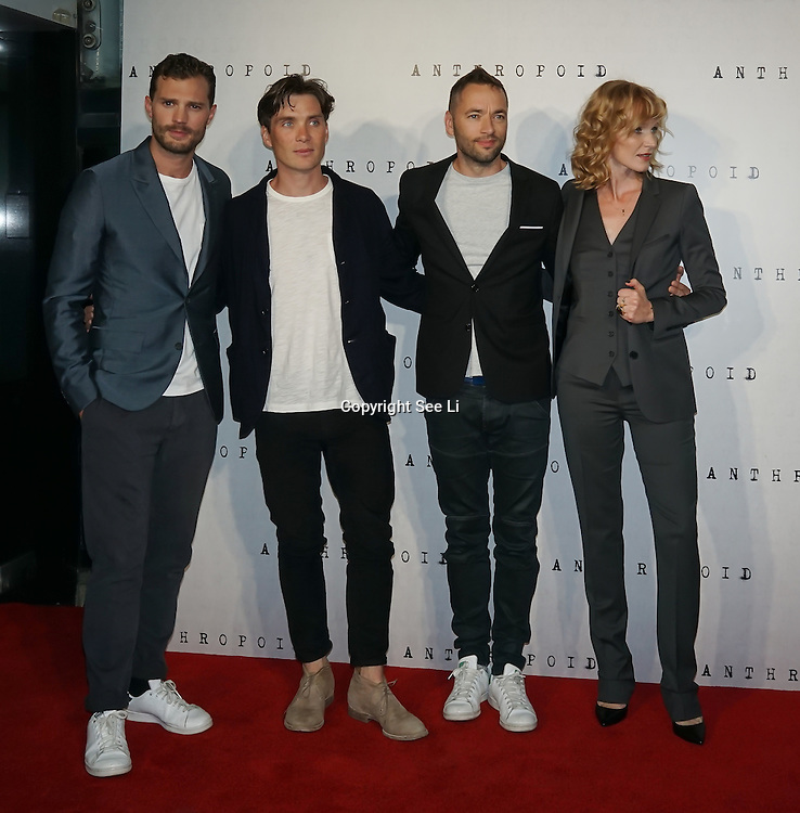 LONDON, ENGLAND - AUGUST 30: Jamie Dornan, Cillian Murphy,Sean Ellis,Anna Geislerova attend the UK premiere of 'Anthropoid' at BFI Southbank on August 30, 2016 in London, England. (Photo by See Li/Picture Capital)