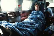 March 6, 2016 - NANCY REAGAN, Ronald Reagan's widow and First Lady from 1981-1989, has died at 94. The cause of death was congestive heart failure. Pictured: Jun 06, 1980 - U.S. - NANCY REAGAN sleeping on an airplane. <br /> ©Michael Evans/Exclusivepix Media