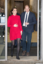 © Licensed to London News Pictures . 06/12/2017 . Manchester , UK . The Duke And Duchess Of Cambridge, Prince William and Kate Middleton, leave the Children's Global Media Summit at the Manchester Central Convention Centre . Photo credit : Joel Goodman/LNP
