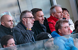 04.03.2018, Red Bull Arena, Salzburg, AUT, 1. FBL, FC Red Bull Salzburg vs SK Rapid Wien, 25. Runde, im Bild v. l.: Trainer Peter Stöger (Borussia Dortmund), Co Trainer Manfred Schmid (Borussia Dortmund) // during Austrian Football Bundesliga 25th round Match between FC Red Bull Salzburg and SK Rapid Wien at the Red Bull Arena, Salzburg, Austria on 2018/03/04. EXPA Pictures © 2018, PhotoCredit: EXPA/ JFK