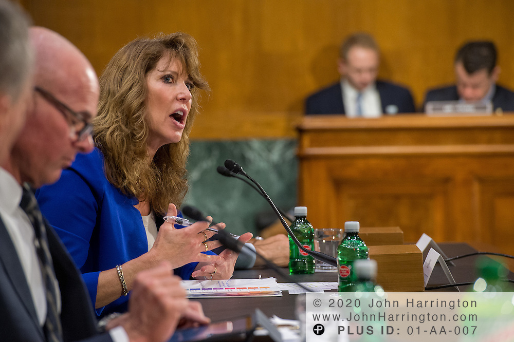 """Ms. Shirley Bloomfield, Chief Executive Officer, NTCA-The Rural Broadband Association testifies before the U.S. Senate Committee on Commerce, Science, & Transportation, during a hearing on Wednesday, March 1, 2017 at 10:00 a.m., entitled, """"Connecting America: Improving Access to Infrastructure for Communities Across the Country."""" The hearing will examined the challenge of connecting Americans, particularly in rural communities, to transportation and information networks."""
