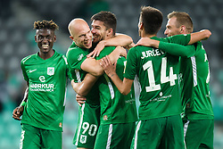 Macky Bagnack, Tomislav Tomic, Rok Kronaveter, Mario Jurcevic, Marko Putincanin during football match between NK Olimpija Ljubljana and Aluminij in Round #9 of Prva liga Telekom Slovenije 2018/19, on September 23, 2018 in Stozice Stadium, Ljubljana, Slovenia. Photo by Morgan Kristan