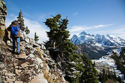 Hiking the Table Mountain Trail from Heather Meadows; Mt. Baker-Snoqualmie National Forest in Washington state