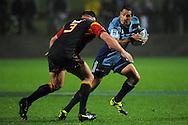 Stephen Brett in action. Investec Super Rugby - Chiefs v Blues, Waikato Stadium, Hamilton, New Zealand. Saturday 26 March 2011. Photo: Andrew Cornaga / photosport.co.nz