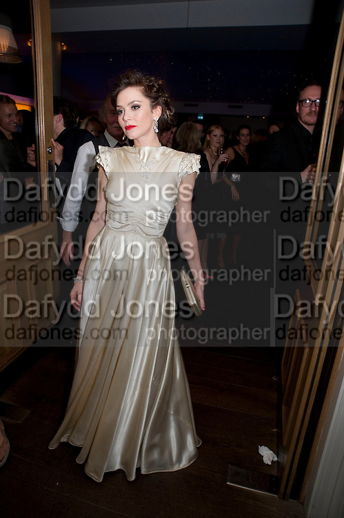 ANNA FRIEL, The afterparty following the press night of 'Breakfast At Tiffany's' The Swimming pool,  Haymarket Hotel, London. September 29  2009.