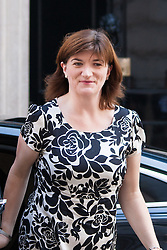 London, July 22nd 2014. Education Secretary Nicky Morgan arrives at the cabinet meeting at Downing Street.