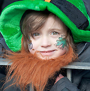 17/03/2013 Ned Morrison from Laois  at the Galway St Patrick's Day Parade.Picture:Andrew Downes.