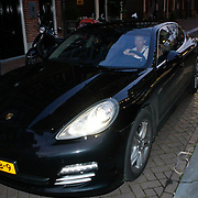 NLD/Amsterdam/20091008 - Designer Vintage for Charity party, Jan des Bouvrie en partner monique arriveren in hun nieuwe Porsche Panamara