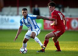 Nahki Wells of Huddersfield Town takes on Liam Nolan of Accrington Stanley - Mandatory by-line: Robbie Stephenson/JMP - 12/07/2017 - FOOTBALL - Wham Stadium - Accrington, England - Accrington Stanley v Huddersfield Town - Pre-season friendly