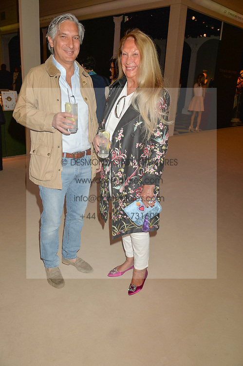 MIMI O'CONNELL and her son CHRISTOPHER FREYVOGEL at the private preview of Masterpiece 2015 held at the Royal Hospital Chelsea, London on 24th June 2015.